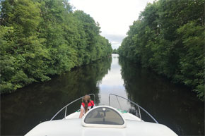 Cruising the Jamestown Canal on a Consul