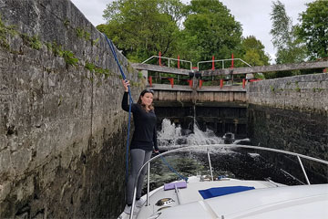 A lock on the Lough Allen Canal