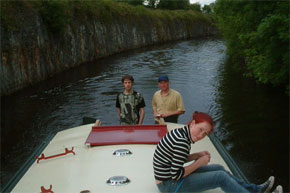 The Coyne Family from Dublin cruising the Shannon/Erne Waterway on a 45ft Barge.