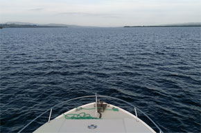Lough Derg from the bow of a Shannon Star