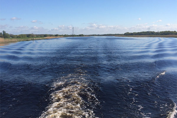 Leaving a wake on Lough Derg