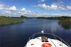 View of the Shannon Erne Waterway from a Caprice Cruiser