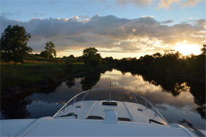 Cruising the tranquil waters of the Shannon