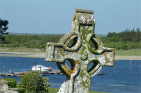 View of the river from Clonmacnoise