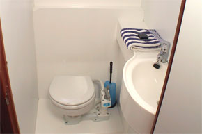 Toilet/Shower on the Noble Captain Shannon River Cruiser