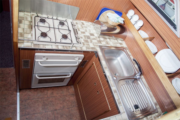 Galley on the Silver Crest Hire Cruiser