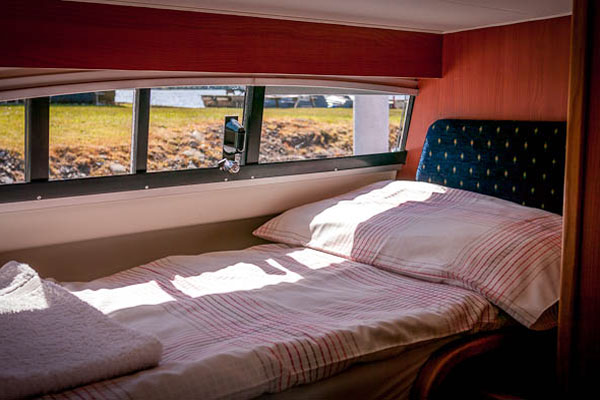 Sleeping Cabin on the Inver Empress Hire Cruiser