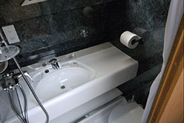 Bathroom and Shower on the Inver Prince 2+2 berth hire boat