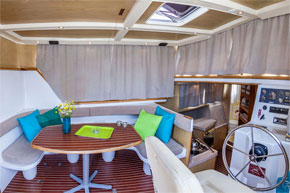 Dining Area on the P1020 hire boat