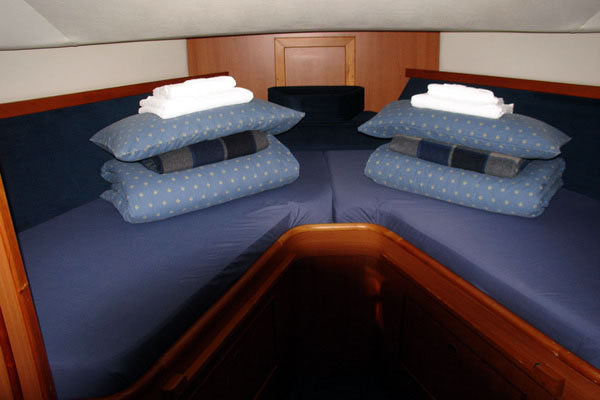 Fore Cabin on the Noble Captain Cruiser