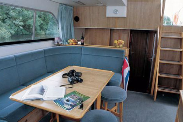 Saloon on the Shannon Star Hire Cruiser