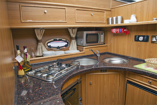 Galley on the Silver Ocean Hire Cruiser