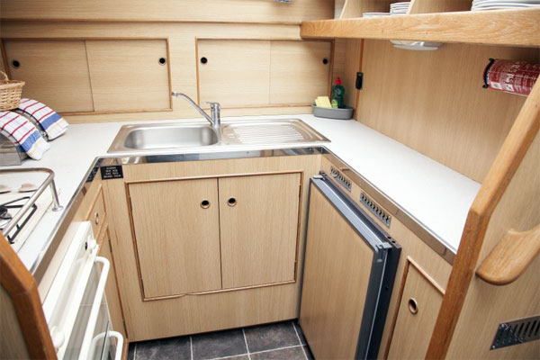 Galley on the Silver Swan Shannon River Cruiser