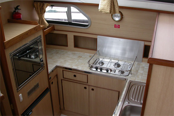 The Galley on the Waterford Class Cruiser.