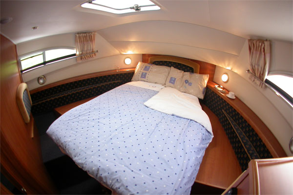 Front cabin on the Wexford - converts to two singl