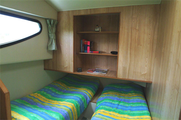 Sleeping Cabin on the Caprice Cruiser - Shannon River boat Hire Ireland