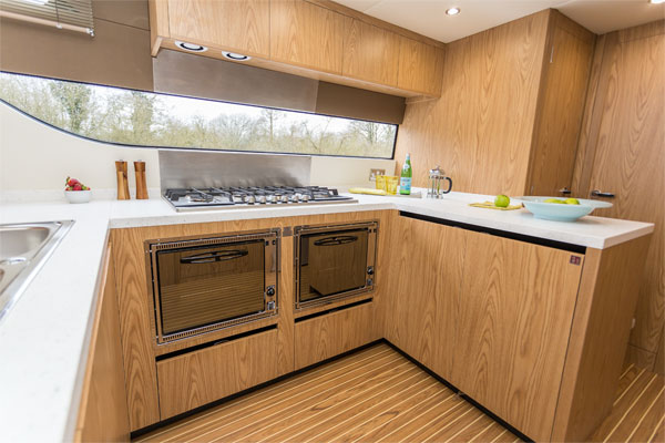 Galley on the Inver Lady Hire Cruiser
