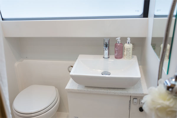 Bathroom on the Inver Lady Hire Boat