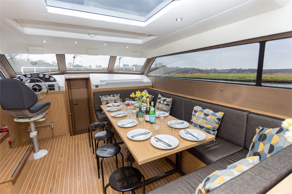 The Saloon on the Inver Lady Hire Cruiser