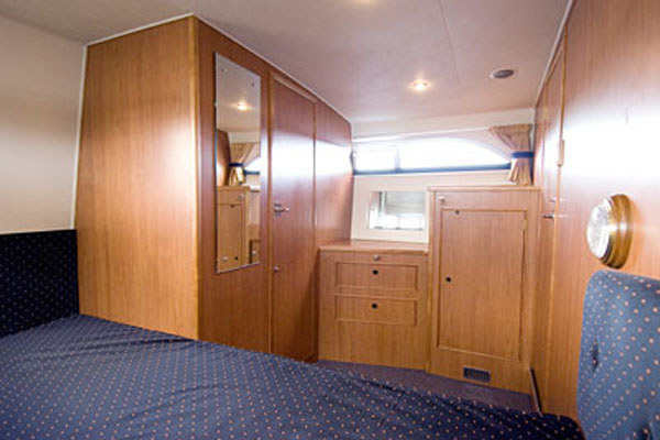 Rear Cabin on the Inver Princess Hire Cruiser in Ireland.
