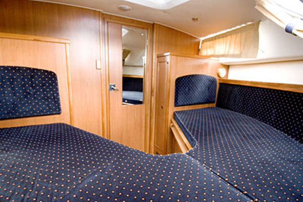 Bow Cabin on the Inver Princess Hire Cruiser in Ireland.