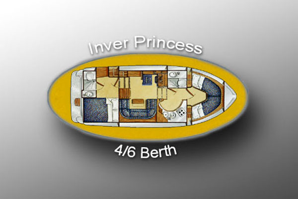 Layout of the Inver Princess Hire Cruiser in Ireland.
