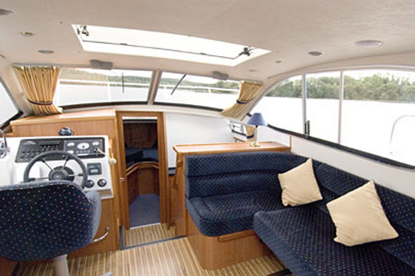 Saloon on the Inver Princess Hire Cruiser in Ireland.