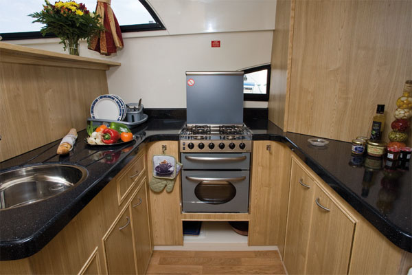 The Galley on the Royal Mystique - Shannon Cruising Ireland