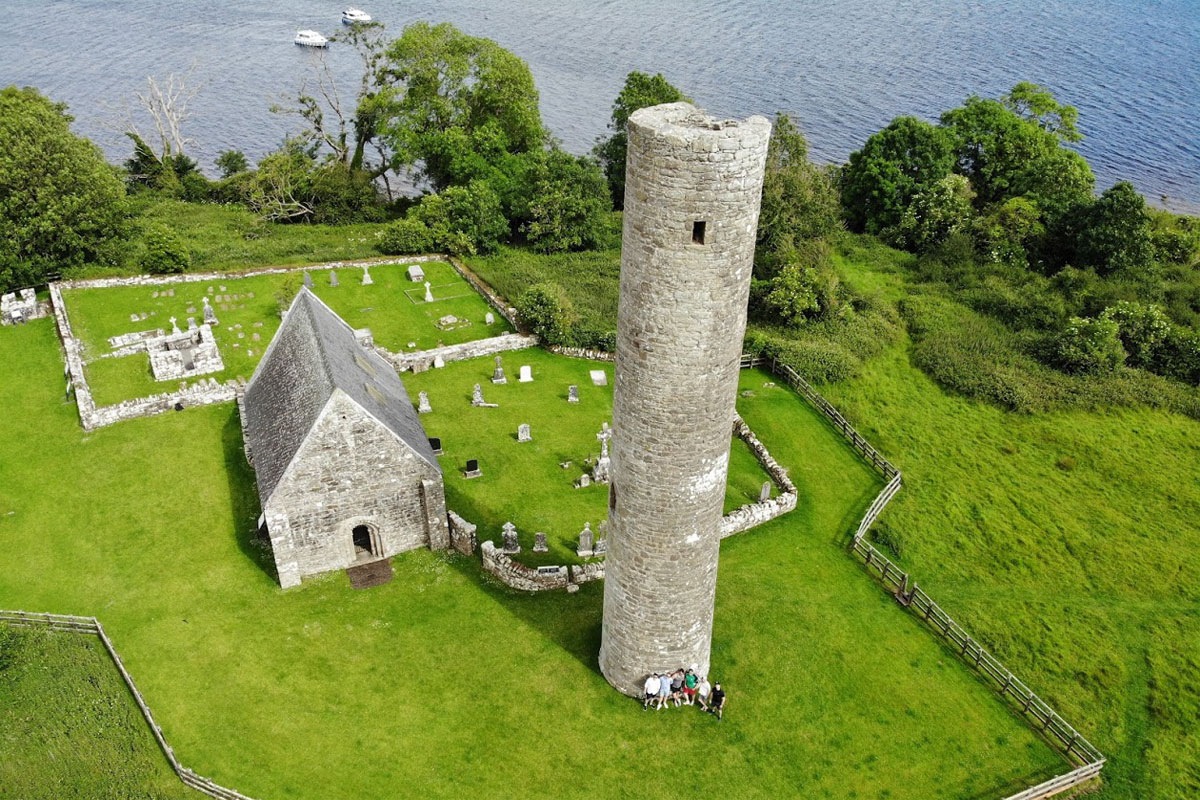 Holy Island on Lough Derg