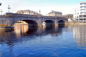 One of the bridges at Athlone on the Shannon River