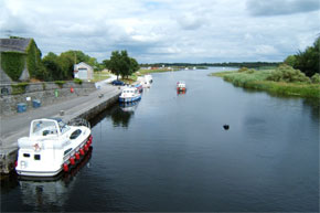 Boats coming from Lough Ree into Lanesborough