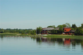 The Wineport restaurant on Lough Ree at Glasson